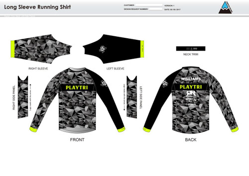 Playtri Long Sleeve Running Shirt