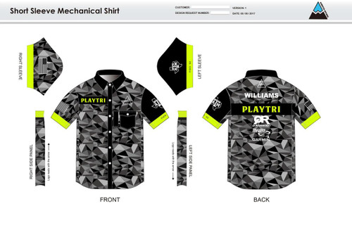 Playtri Adult Mechanic Shirt - UNISEX Sizing