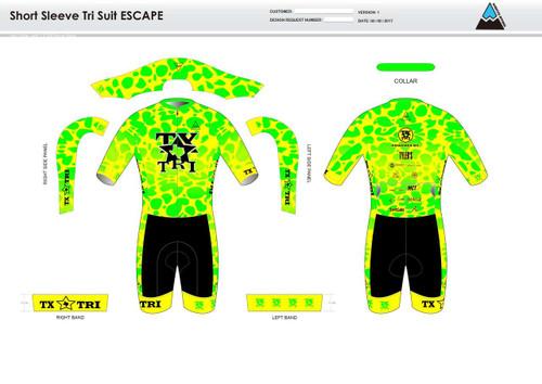 Tx Tri ESCAPE Short Sleeve Tri Suit