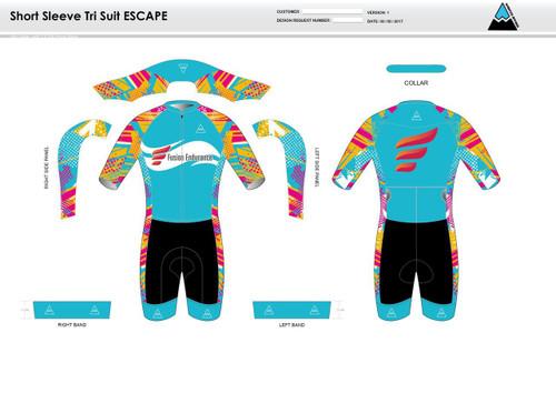 Fusion Endurance ESCAPE Short Sleeve Tri Suit