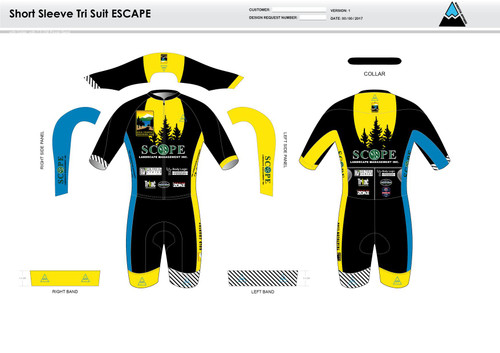 Gold Country ESCAPE Short Sleeve Tri Suit