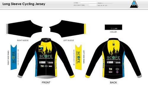 Gold Country Long Sleeve Cycling Jersey