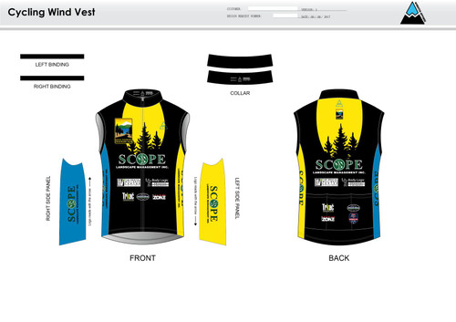 Gold Country Cycling Wind Vest