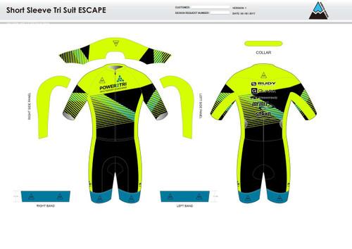 Gabe ESCAPE Short Sleeve Tri Suit