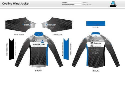 Power2Tri Blue Wind Jacket