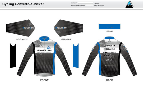 Power2Tri Blue Convertible Jacket
