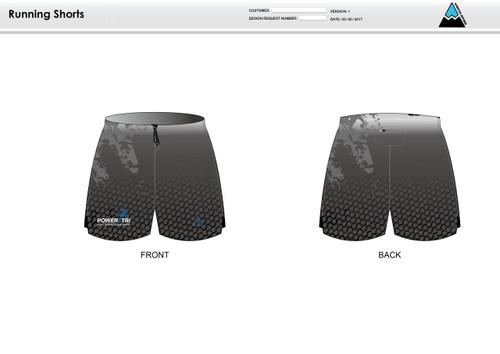 Power2Tri Blue Running Shorts