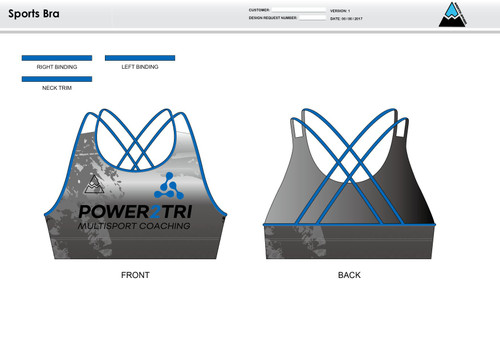 Power2Tri Blue Sports Bra