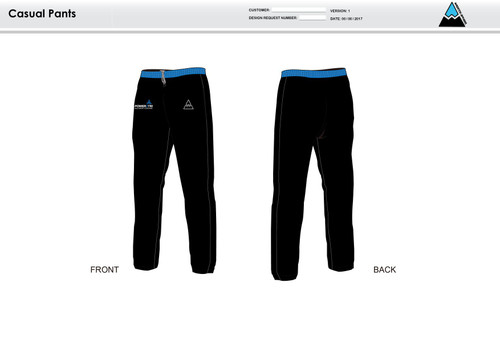 Power2Tri Blue Warm Up Pants
