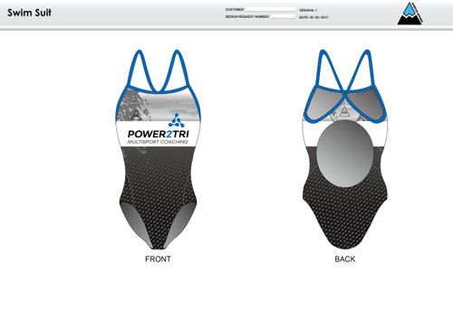 Power2Tri Blue Women's One Piece Swimsuit