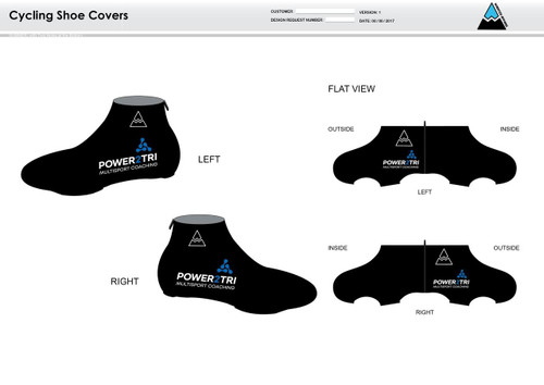 Power2Tri Blue Cycling Shoe Covers