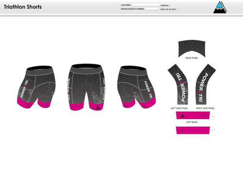 Power2Tri Pink Men's Tri Shorts