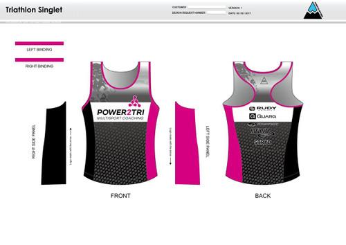 Power2Tri Pink Women's Tri Singlet