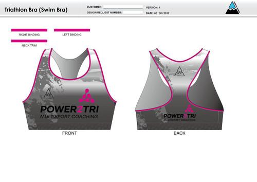 Power2Tri Pink Triathlon Bra