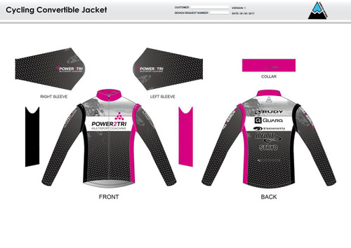 Power2Tri Pink Convertible Jacket
