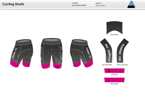Power2Tri Pink Cycling Shorts