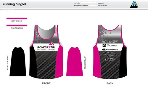 Power2Tri Pink Running Tank
