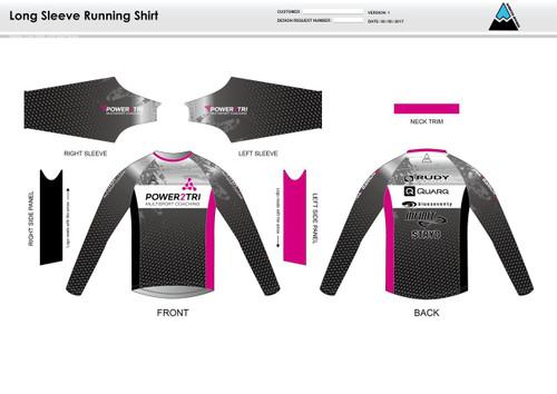 Power2Tri Pink Long Sleeve Running Shirt