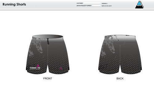 Power2Tri Pink Running Shorts