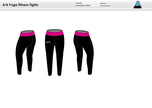 Power2Tri Pink Women's Full Length Fitness Tights