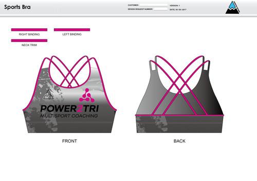 Power2Tri Pink Sports Bra