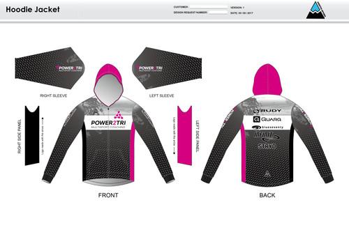 Power2Tri Pink Hoodie Jacket