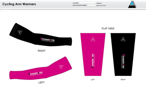 Power2Tri Pink Cycling Arm Sleeves