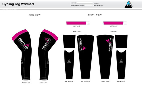 Power2Tri Pink Cycling Leg Sleeves