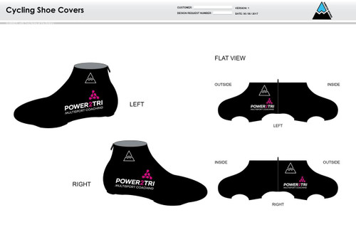 Power2Tri Pink Cycling Shoe Covers