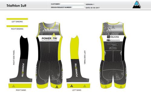 Power2Tri Yellow Sleeveless Tri Suit