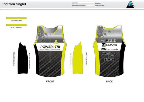 Power2Tri Yellow Men's Tri Singlet