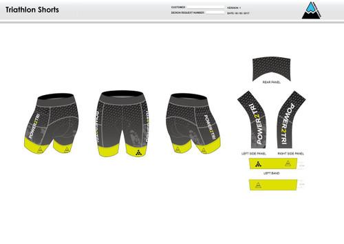 Power2Tri Yellow Men's Tri Shorts