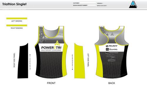 Power2Tri Yellow Women's Tri Singlet