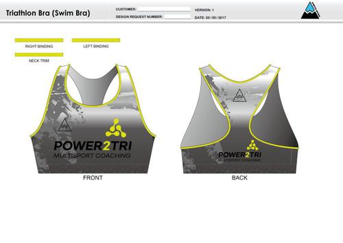 Power2Tri Yellow Triathlon Bra