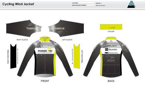 Power2Tri Yellow Wind Jacket