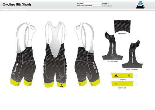 Power2Tri Yellow Cycling Bibs