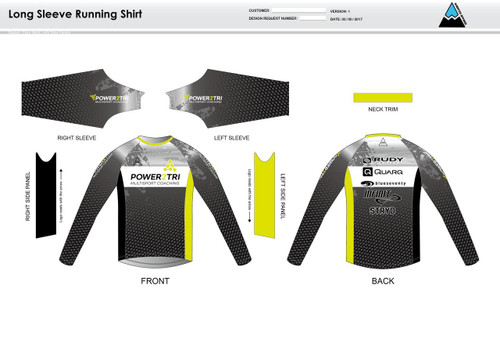 Power2Tri Yellow Long Sleeve Running Shirt
