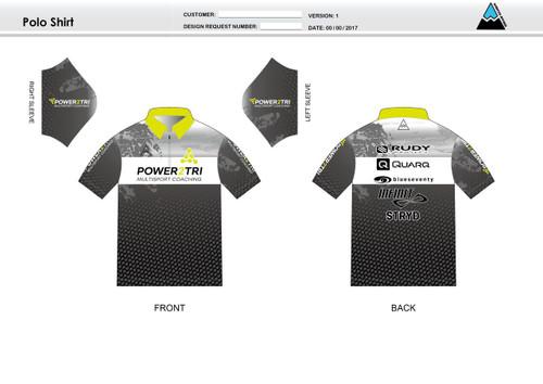 Power2Tri Yellow Youth Polo Shirt
