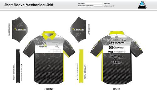 Power2Tri Yellow Mechanic Shirt - UNISEX Sizing