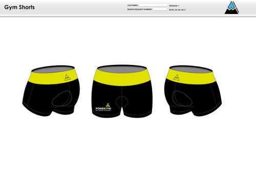 Power2Tri Yellow Women's Compression Fitness Shorts