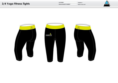 Power2Tri Yellow Women's 3/4 Fitness Tights