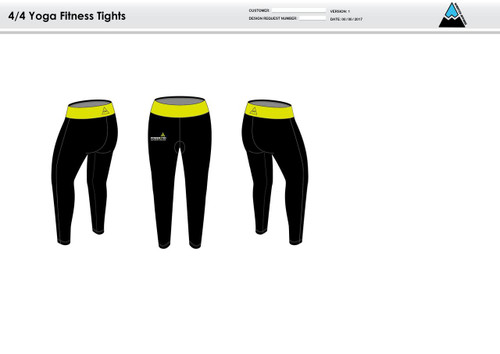 Power2Tri Yellow Women's Full Length Fitness Tights