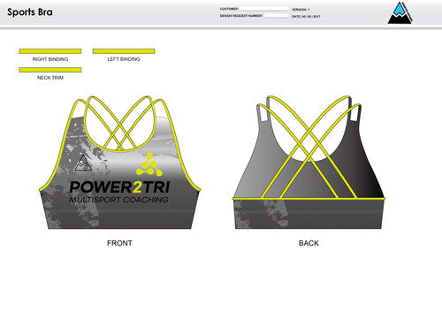 Power2Tri Yellow Sports Bra