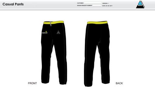 Power2Tri Yellow Warm Up Pants