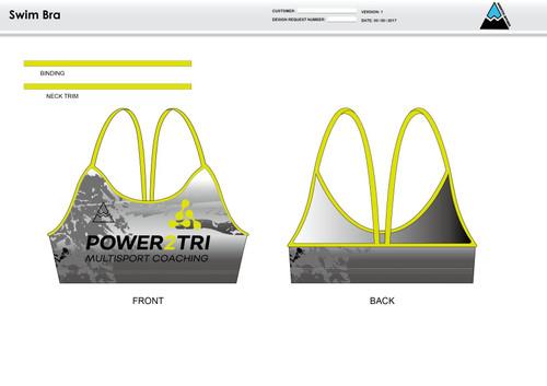 Power2Tri Yellow Women's Two Piece Swimsuit