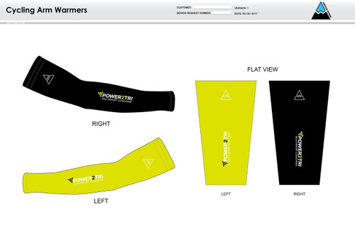 Power2Tri Yellow Cycling Arm Sleeves