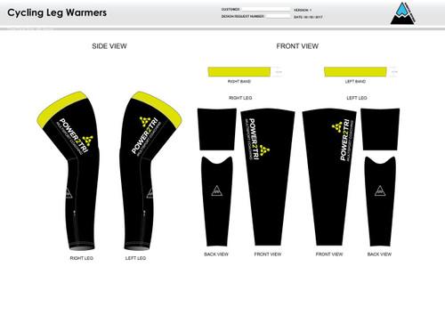Power2Tri Yellow Cycling Leg Sleeves