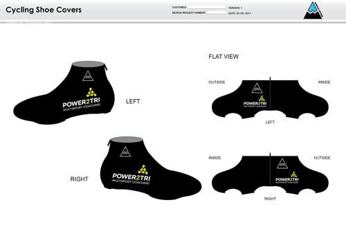 Power2Tri Yellow Cycling Shoe Covers
