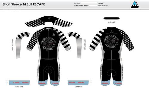 Kadous ESCAPE Short Sleeve Tri Suit