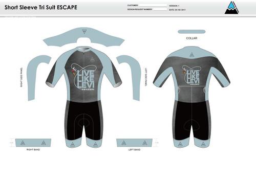 Be A Legend ESCAPE Short Sleeve Tri Suit